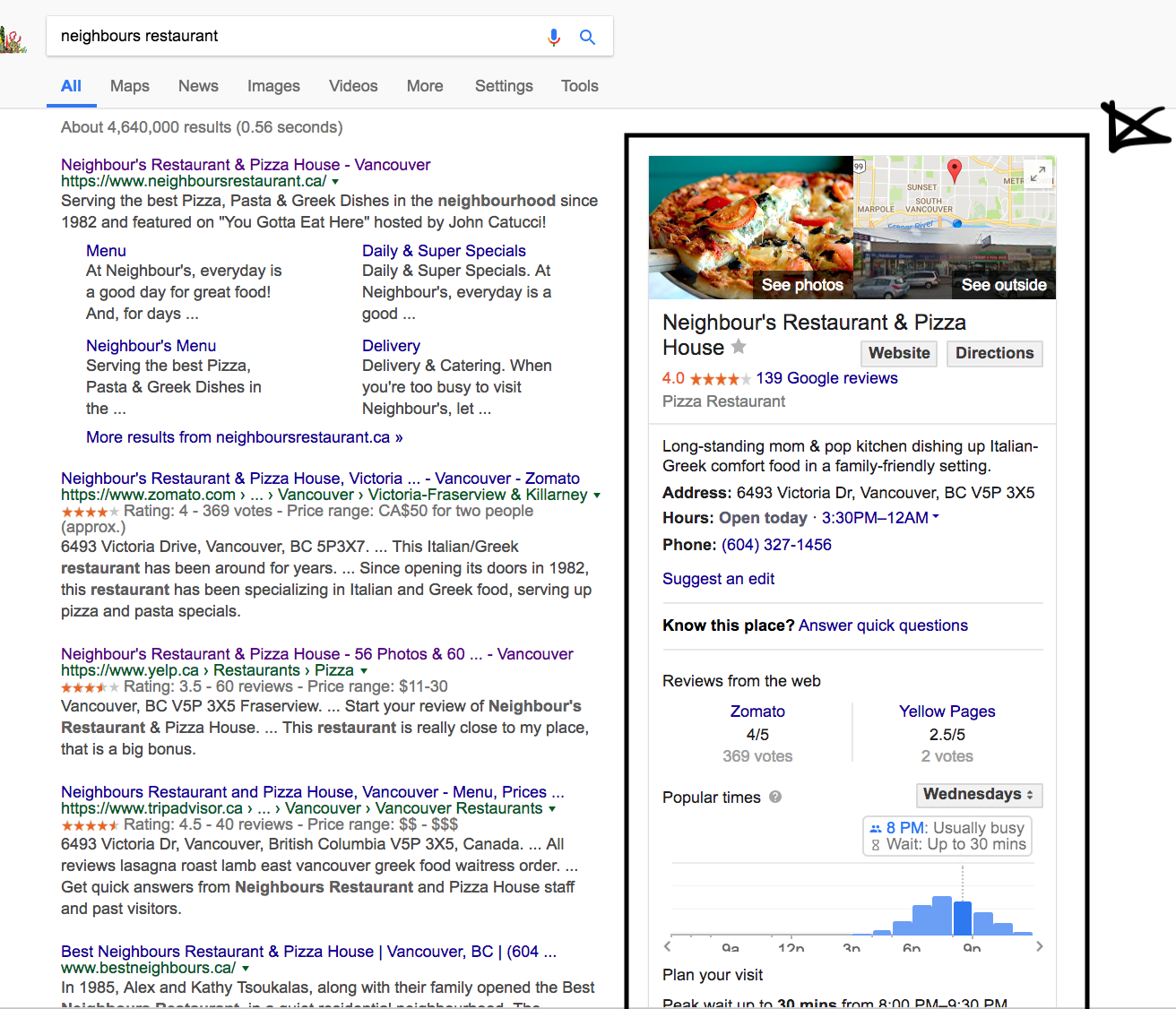 Google MyBusiness example